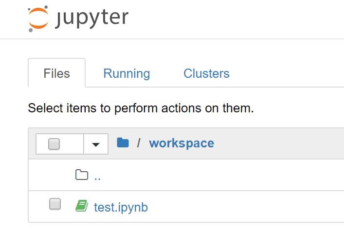 test.ipynbファイルの生成を確認
